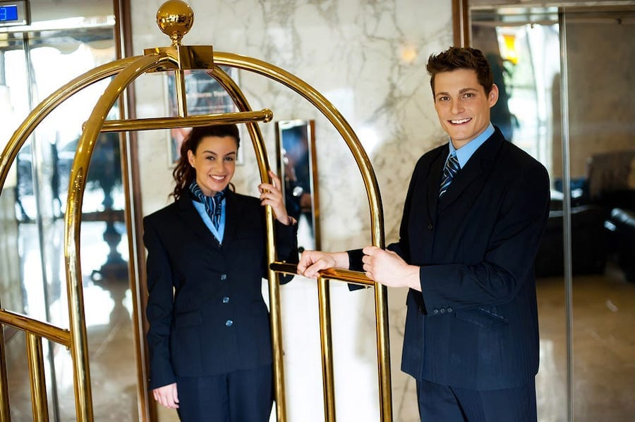 people in a hotel