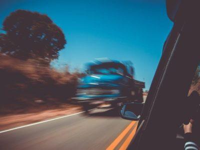 blurry truck